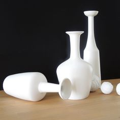 Vase Blanc Mat En Céramique 30cm Isa Taille Unique
