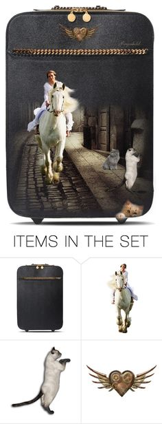 """""""Decorate a Travel Suitcase Contest😀"""" by ragnh-mjos ❤ liked on Polyvore featuring art, contest and suitcase"""