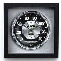 Classic Speedo Wall Clock by Me and My Car, the perfect gift for Explore more unique gifts in our curated marketplace. Car Part Furniture, Automotive Furniture, Automotive Decor, Furniture Design, Bench Furniture, Unusual Clocks, Cool Clocks, Car Bedroom, Bedroom Themes