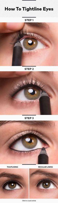 10 Easy Step By Step Makeup Tutorials For Brown Eyes   Subtle Black Eyeliner