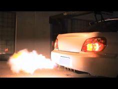 Subaru impreza WRX Sti sound and fire - YouTube
