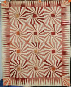1890's Vintage Pinwheels Antique Silk Crib Quilt - great for the solid quilt challenge.