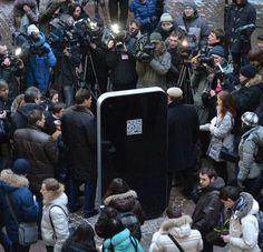 Memorial iPhone for Steve Jobs in St. Petersburg