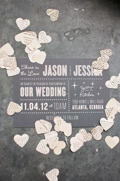 Modern gray invite from our favorites at Minted! http://www.minted.com/ Photography by Kate Belle / kate-belle.com