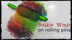 Painting with Rolling Pins and bubblewrap