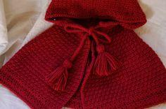 Crochet - little red riding hood cape. Love it!
