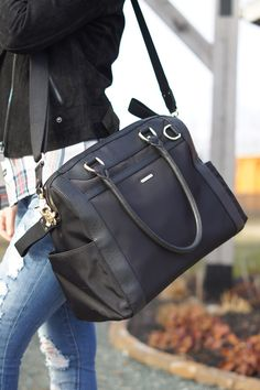 Casual Chic Mommy Look + GIVEAWAY REBECCA MINKOFF DIAPER BAG