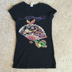 Black Ed Hardy Shirt Preowned. It's authentic Tops Tees - Short Sleeve