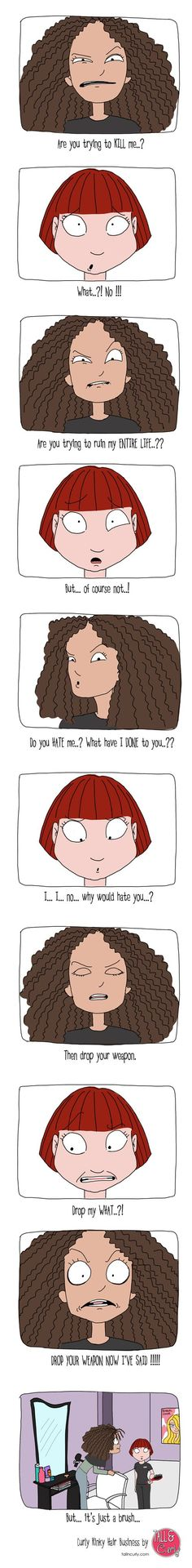 """Threatened"" - so funny! #naturalhaircomics:"