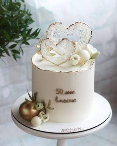 Elegant Birthday Cakes, Baby Birthday Cakes, Beautiful Birthday Cakes, Cake Decorating Frosting, Cake Decorating Designs, Birthday Cake Decorating, Anniversary Cake Designs, Happy Anniversary Cakes, Beautiful Cake Designs