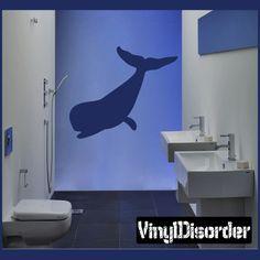 Sperm Whale Wall Decal - Vinyl Decal - Car Decal - NS001
