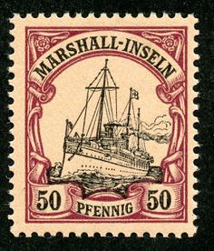 Marshall Islands 1901 Scott 20 50pf purple & black/salmon