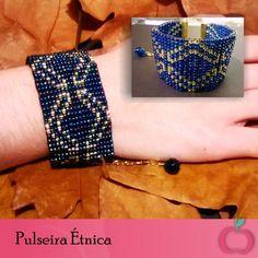 Pulseira Étnica de miçangas. #pulseiras #étnico #boho #hippie  #miçanças #pulseirasfemininas #folk #beads