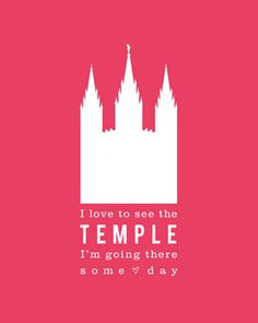 Sweet LDS temple print