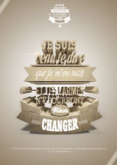 /// Typographie 3D /// by Alexis Persani, via Behance