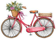 Watercolor Background, Watercolor Paintings, Bicycle Illustration, Paris Vintage, Bicycle Art, Decoupage Paper, Aesthetic Stickers, Scrapbook Stickers, Cute Stickers