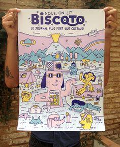 """Nous, on lit BISCOTO"" poster - Pablo Delcielo / Illustrator"
