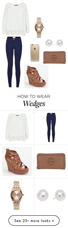 """Southern prep"" by southern-prep-girl on Polyvore featuring Soda, Tory Burch, Pearlyta, Rifle Paper Co, Violeta by Mango and Nixon"