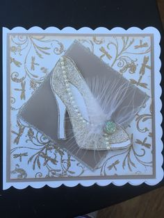 Shoe card Made with stamps by chloe