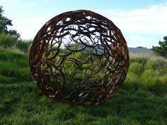Ivan MClean  Sphere 7' , 2011   steel   84 x 84 x 84 in  213 x 213 x 213 cm Weathered steel