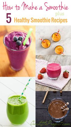 Everything you need to know about making smoothies! From easy ingredients to super food extras.