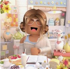 Cute Laptop Wallpaper, Cute Tumblr Wallpaper, Cute Girl Wallpaper, Aesthetic Iphone Wallpaper, Cute Wallpapers, Roblox Funny, Roblox Roblox, Roblox Memes, Ice Cream Art