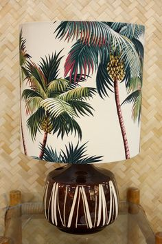 vintage retro palm tree lamp - Homeworks Design Store