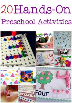 20 Hands On Preschool Activities for Literacy and Math to keep them busy
