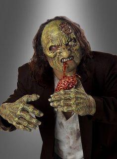 Gehirnfresser Maske und Handschuhe - Snack für Zombies unterwegs