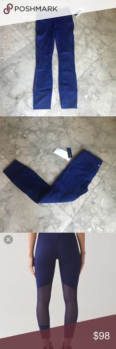 Lululemon Hit It Tight 7/8 NWT 4!!! Brand new Lulu Tight 7/8 length NWT! Full on Luxtreme with mesh details - High Rise/ Hugged sensation in Hero Blue- No trades/ price firm- retails for $118- No trades/ price firm lululemon athletica Pants Leggings
