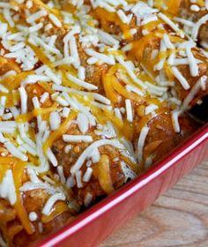 BBQ Chicken Enchiladas I howsweeteats.com