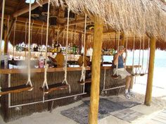 Get in the swing of it! Life's a beach at this Tiki bar.