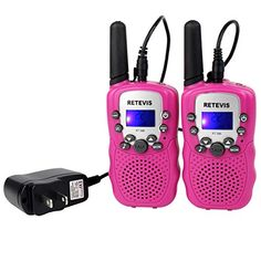 rechargeable Walkie Talkie for kids: Retevis Kids Walkie Talkies Rechargeable FRS 22 Channel Walkie Talkies for Kids Pair) Teen Pink, Pink Girl, Good Presents For Girls, Online Shopping Usa, Shopping Stores, Two Way Radio, Everything Pink, Walkie Talkie, Toys For Girls