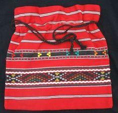 Typical Romanian cotton bag in the traditional folk style. Folk Style, Romanian Food, Folk Fashion, Craft Bags, 90s Kids, Kazakhstan, Cotton Bag, Ukraine, Folk Art