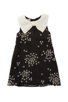 Bubble Frill Sparkle Dress with Bow Collar (Toddler, Little Girls, & Big Girls) on HauteLook