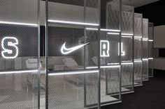 We captured the victories spirit of the Opening Finals while creating a personal narrative for each player within the Nike Portland Campus. Stand Design, Display Design, Booth Design, Showroom Interior Design, Gym Interior, Retail Store Design, Retail Shop, Gym Design, Wall Design