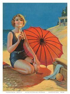 Art Deco, Art Nouveau, Vintage Wall Art, Vintage Posters, Vintage Images, Pin Up Girl Vintage, Beach Posters, Travel Posters, Mode Vintage