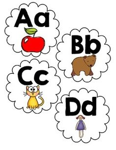 Are you looking for cute letters to update your word wall?  You will love these labels!   They are perfect for a small word wall.  I use this in my 4k classroom to get students talking about letter.  Place struggling students seats in front of your word wall to get them talking letters and the words on your word wall…