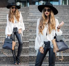 Favorite blouse - Living in a shoe Zac Posen Bags, My Outfit, Fashion Bags, Autumn Fashion, Hipster, Street Style, Chic, My Style, Pants