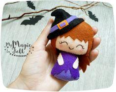 Halloween fieltro decoración poco bruja adorno por MyMagicFelt