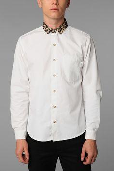 Civil Long-Sleeved Cheetah Collar Shirt Online Only