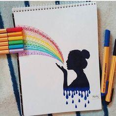 Sick Drawings, Art Drawings Sketches Simple, Pencil Art Drawings, Colorful Drawings, Simple Tumblr Drawings, Sketch Art, Mandala Art Lesson, Mandala Artwork, Mandala Drawing