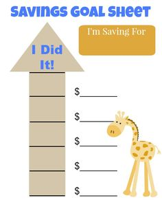 Teaching Kids to Manage Money from 3-18+ years. Ideas for Youth Financial Literacy plus a free Savings Goal Sheet printable. @americafirstcu