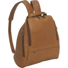 e223f4735b1f Le Donne Leather U Zip Mid Size Backpack Purse Price   77.49 -  93.00 Brown