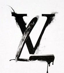 Fashion Illustration Watercolor - Louis Vuitton Logo Black ...