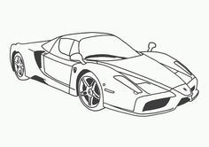 Cool cars - coloring pages online for kids Ferrari Race Car Coloring Pages, Coloring Pages For Teenagers, Coloring Pages To Print, Online Coloring Pages, Free Coloring Pages, Coloring Books, Printable Coloring, Coloring Sheets, Car Drawings