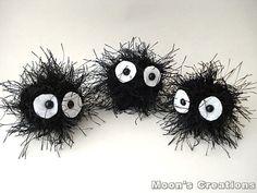 Makkurokurosuke Doll  Amigurumi Soot Sprite by MoonsCreations, $8.00