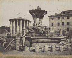 Rome, Temple of Vesta Grand Tour, Roman Empire, Vintage Photography, Old Photos, Rome, History, Antiques, City, 19th Century