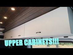 Upper cabinets are an essential part of almost every van build. It's important that they're strong and easy to use. This video covers all of the tips & trick. Van Conversion Cabinets, Camper Van Conversion Diy, Van Dwelling, Van Camping, Sprinter Van, Upper Cabinets, The Struts, Van Life, Innovation