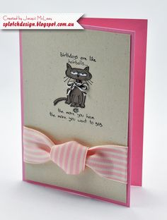 Splotch Design - Jacquii McLeay - Stampin Up - Giggle Greetings Card